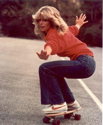 skating girl farrah fawcett