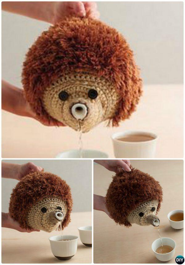 Crochet Hedgehog Teapot Cozy Pattern-20 Crochet Knit Tea Cozy Free ...