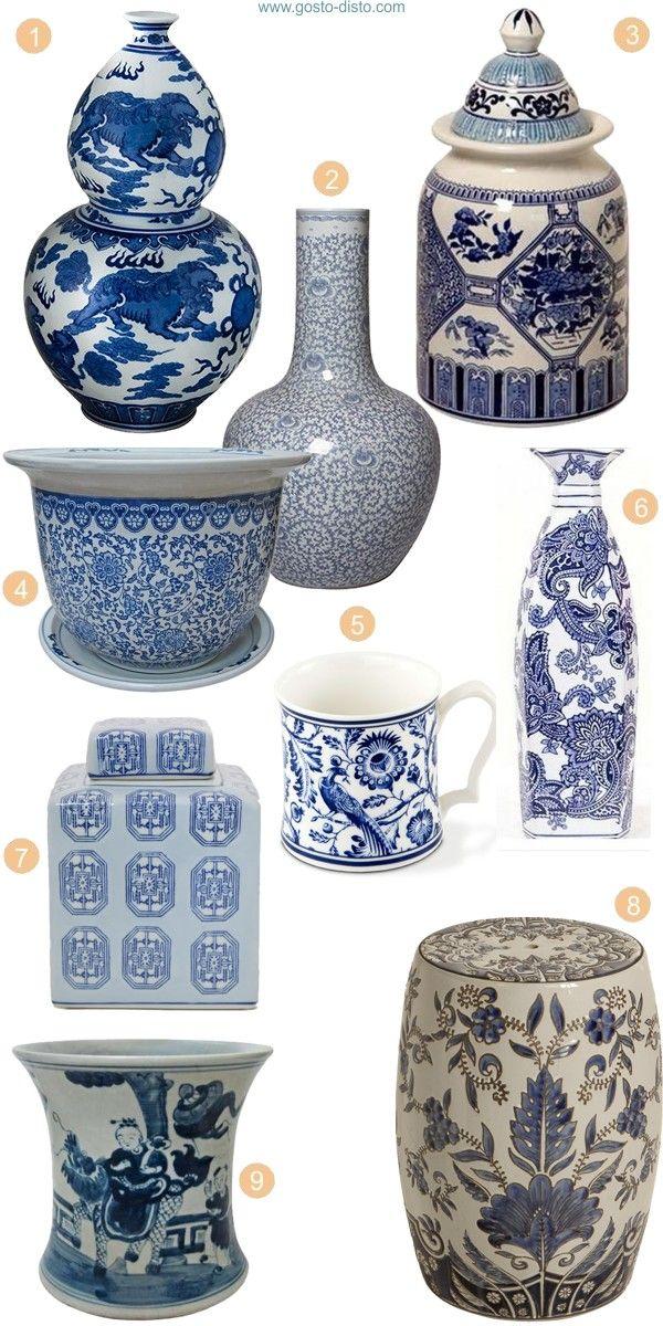 e3fdaac6951 Porcelana chinesa azul e branca - chique e clássica
