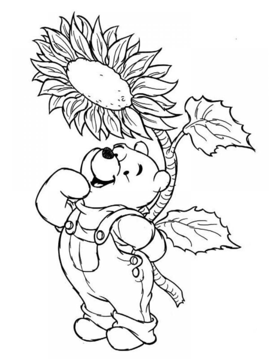 Winnie The Pooh Disney Spring Coloring Pages | becoloring.com ...