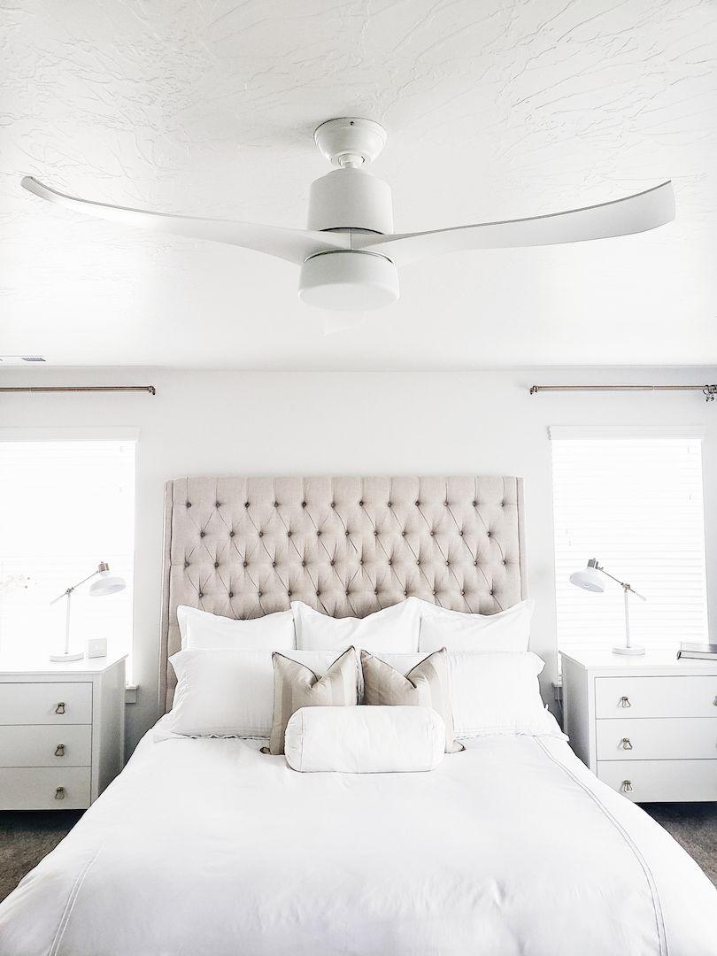 Symphony Ceiling Fan With Light By Hunter Fan Hun 59222 White Ceiling Fan Bedroom Ceiling Fan Bedroom Ceiling Fan With Light
