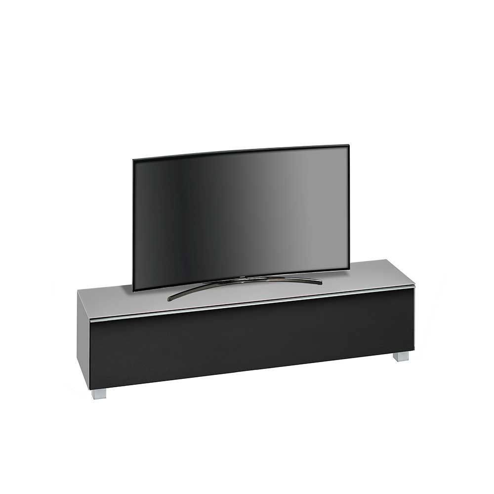 Tv sideboard modern  TV Board in Grau Glas Schwarz modern Jetzt bestellen unter: https ...