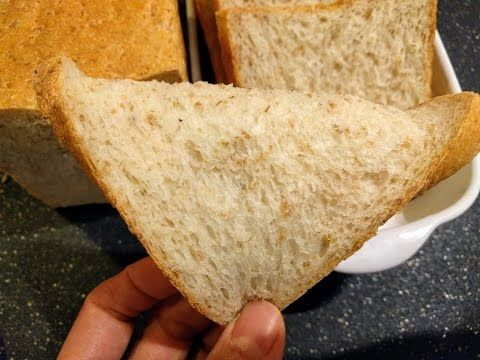 高纖麥片帶蓋吐司食譜做法Wheat Grain flakes Pullman loaf Toast bread recipe