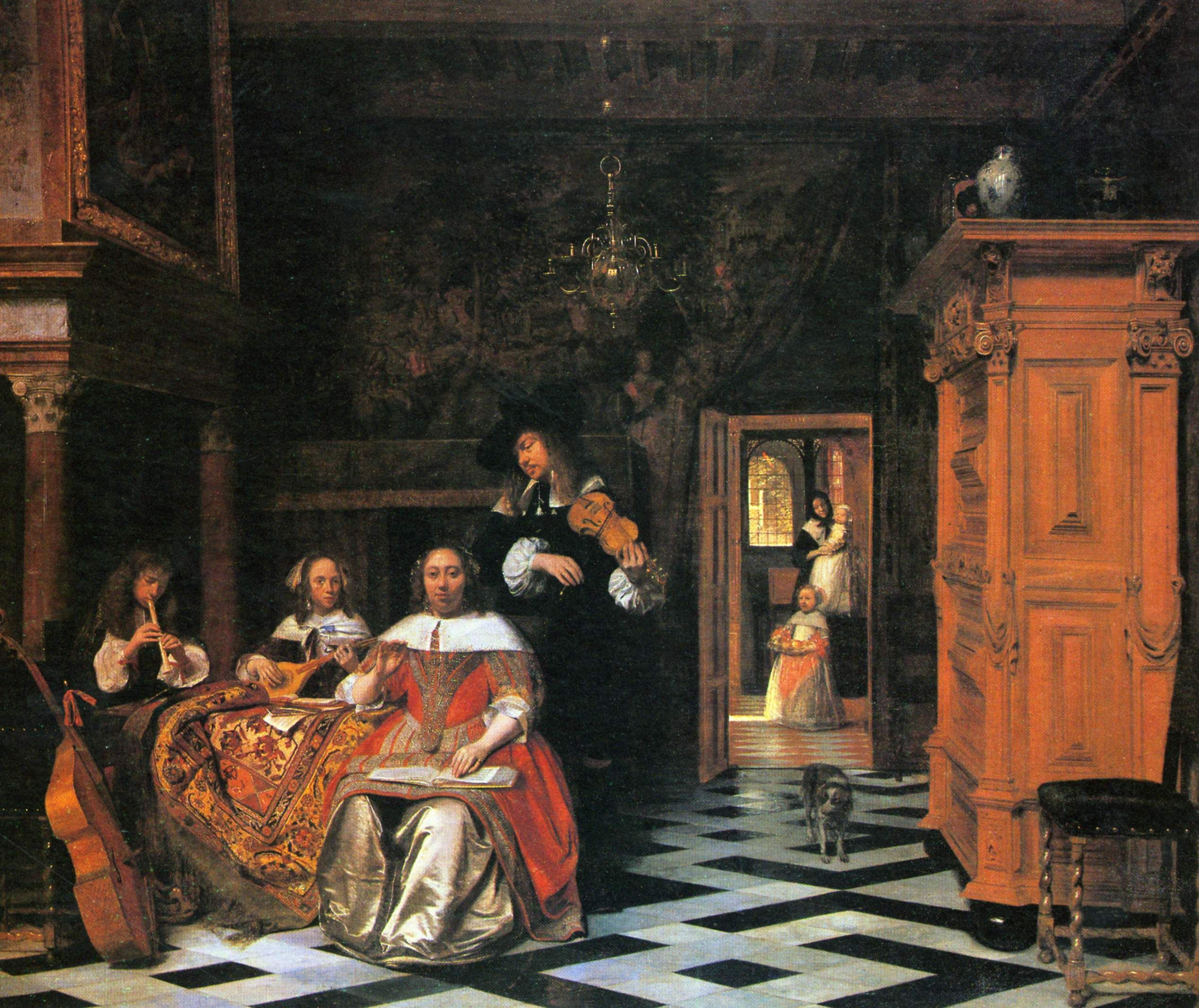 Family Making Music Pieter De Hooch  Cleveland Museum Of - Music museums in usa