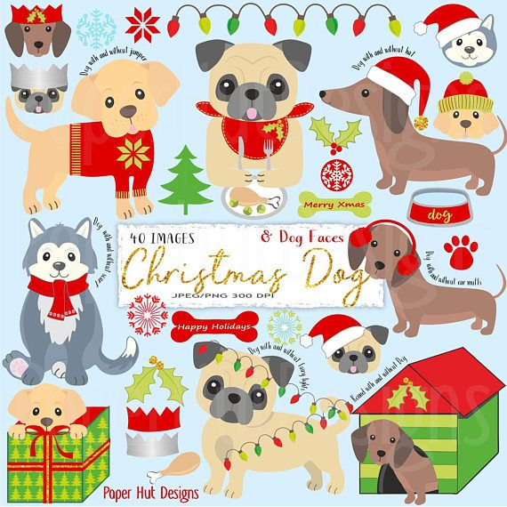 44++ Free christmas clipart dogs information