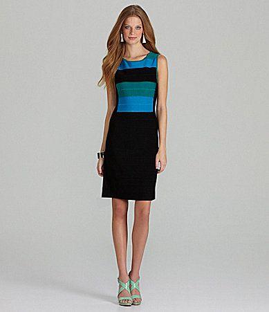 Calvin Klein Colorblock Bandage Dress #Dillards