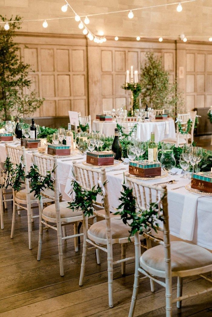 Bringing the Scottish outdoors inside at this stunning Achnagairn Castle wedding...  - flower chairs -