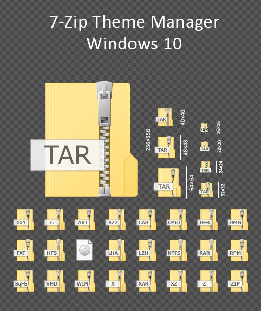 7 Zip Filetype Theme Windows 10 By Masamunecyrus Windows