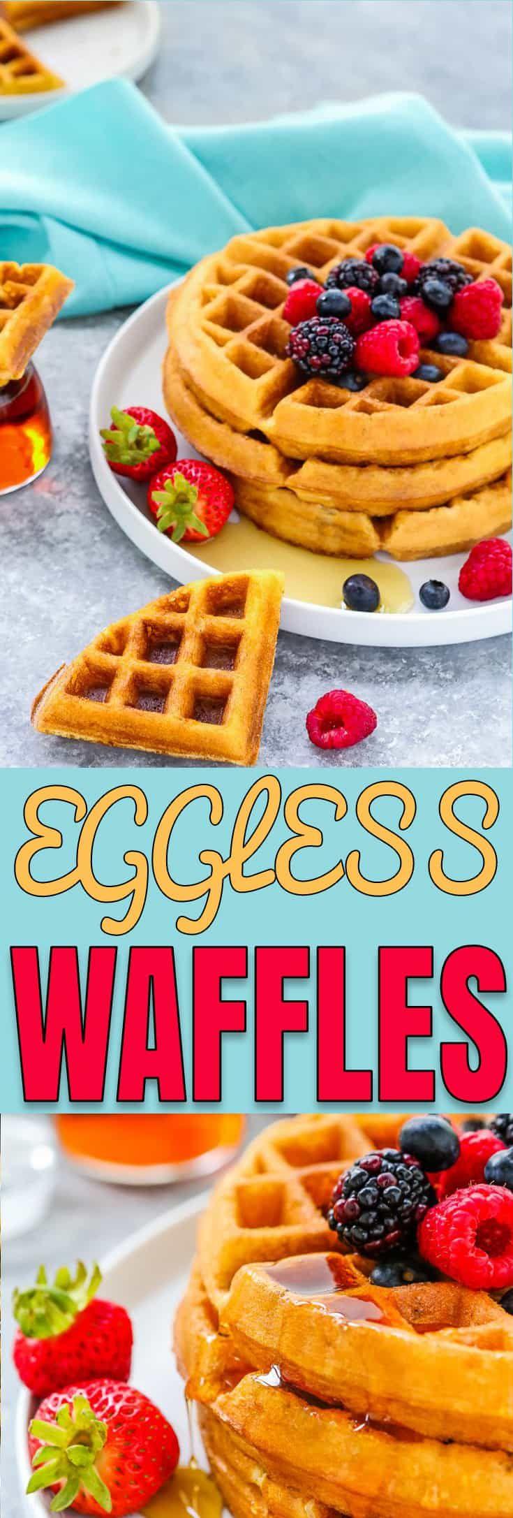 Eggless Waffles Recipe Homemade Waffles Easy Waffle Recipe Eggless Recipes