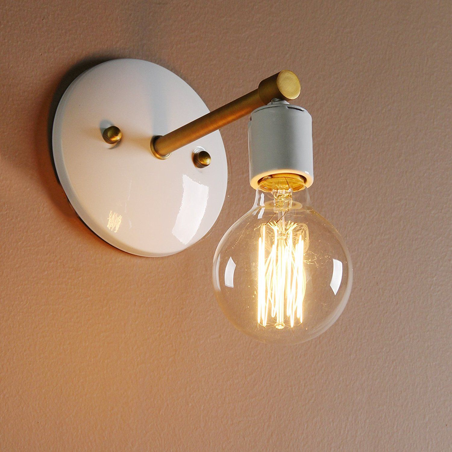 Permo Industrial Scandinavian Mini Single Sconce Antique Finished