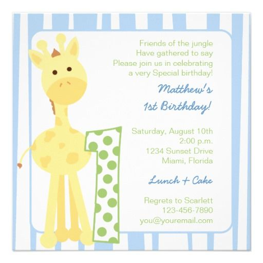 Giraffe First Birthday Invitation Make Your Own Invites More Personal To Celebrate The Arrival Of A New Baby Just Add Photos And Words This Great