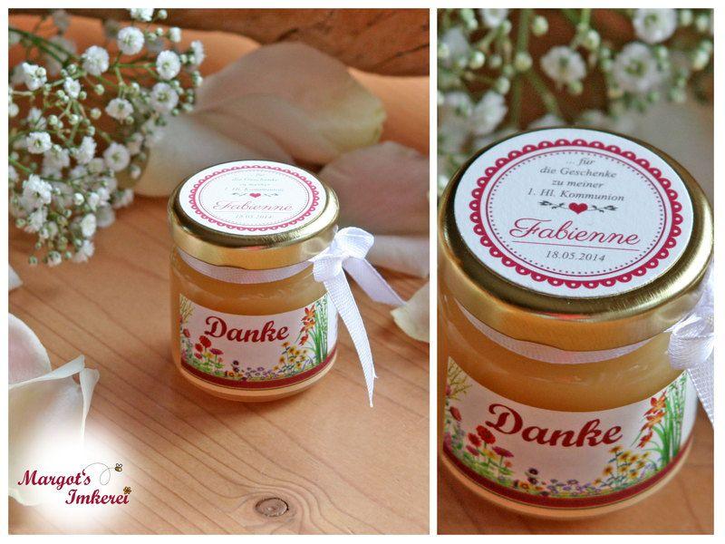 5 x Honig - süße Gastgeschenke zur Kommunion von Margots-Imkerei auf DaWanda.com