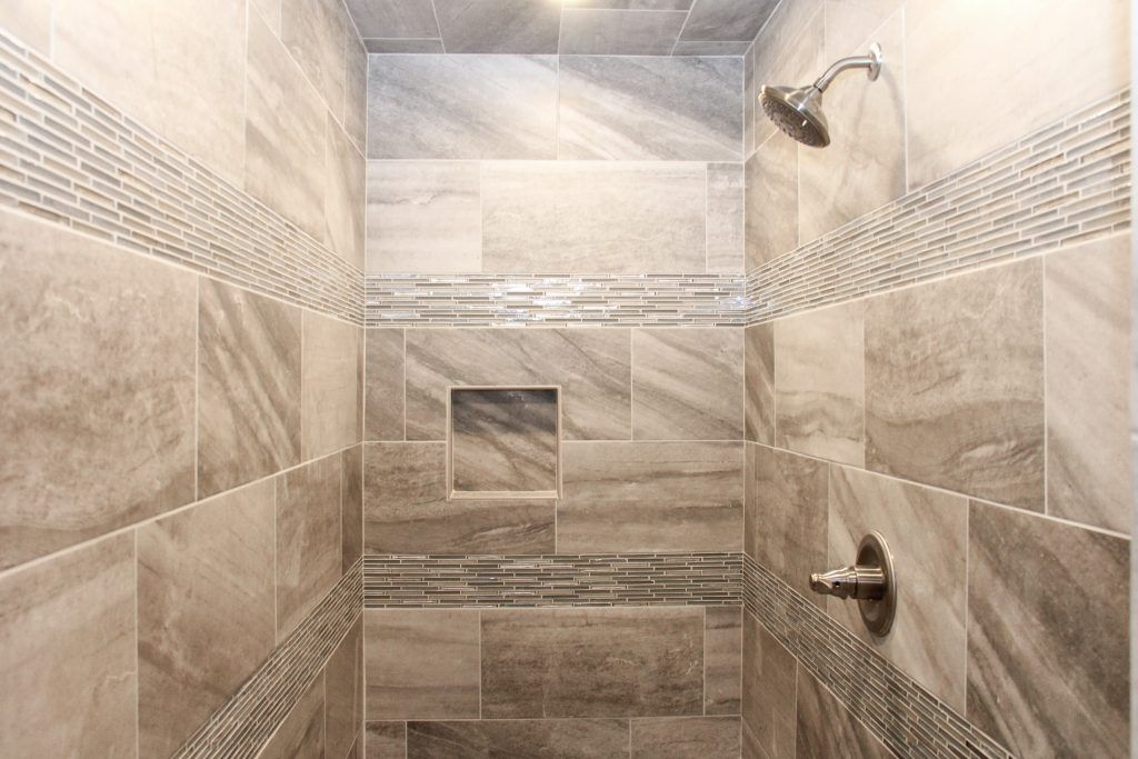 Beige Tile Shower Beige Glass Mosaic Tile Accent Bathroom
