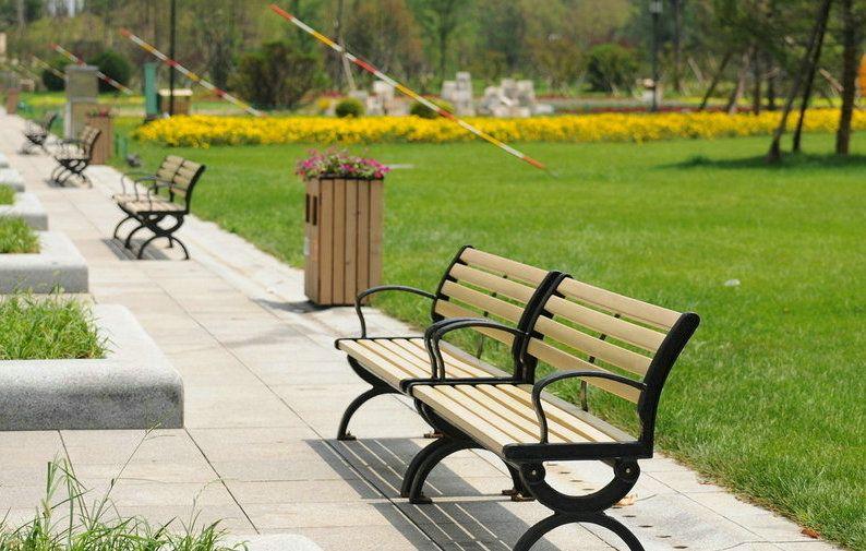 Park Bench Wood Slats Norway