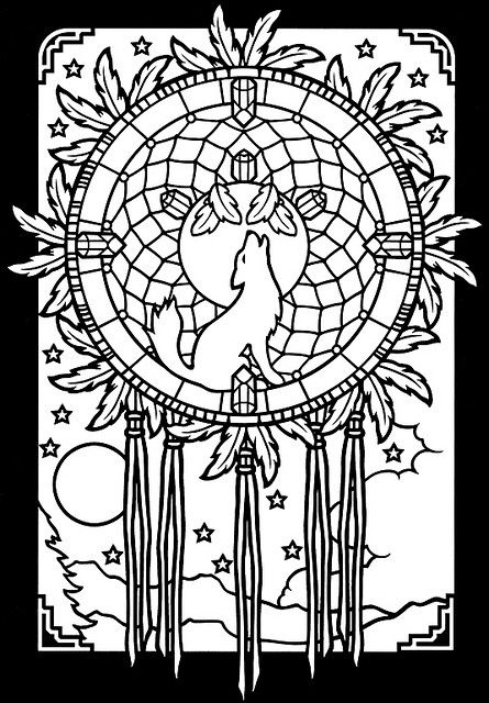 dreamcatchers stained glass coloring book 2 by oodleardle via