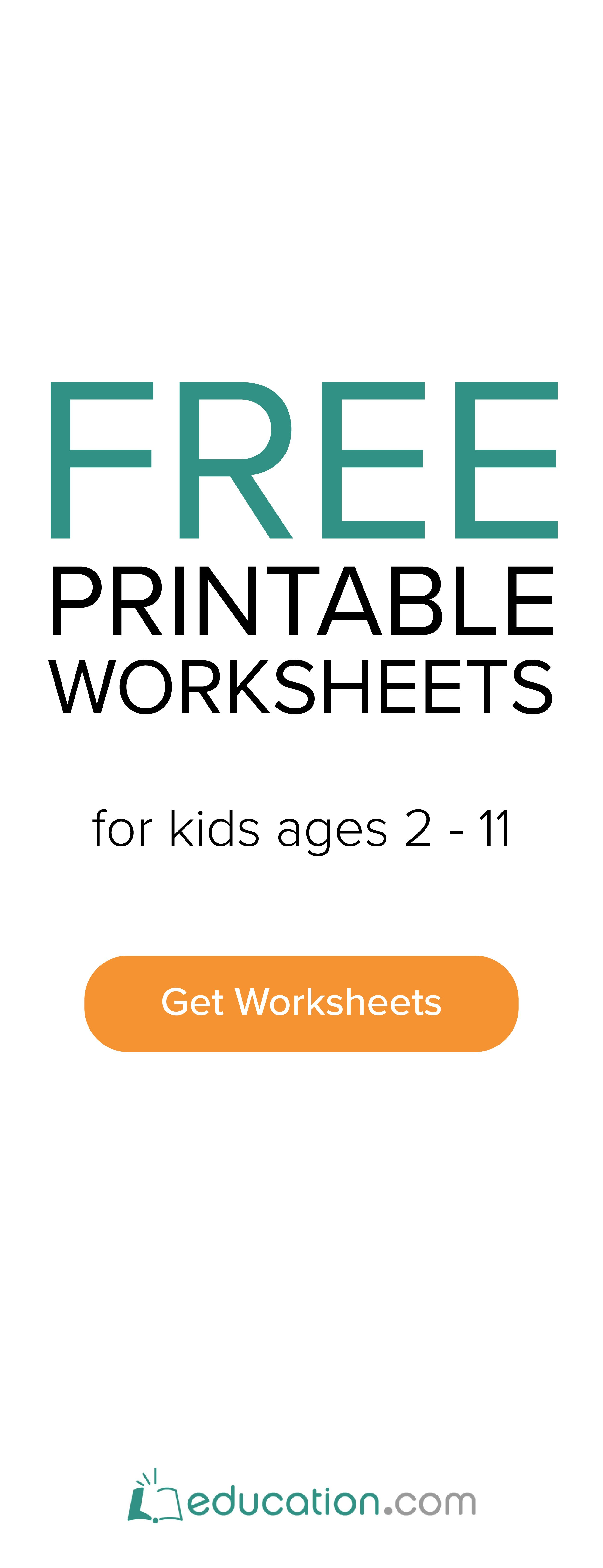 Free Multiplication Worksheets For Pre K Thru 5th Grade