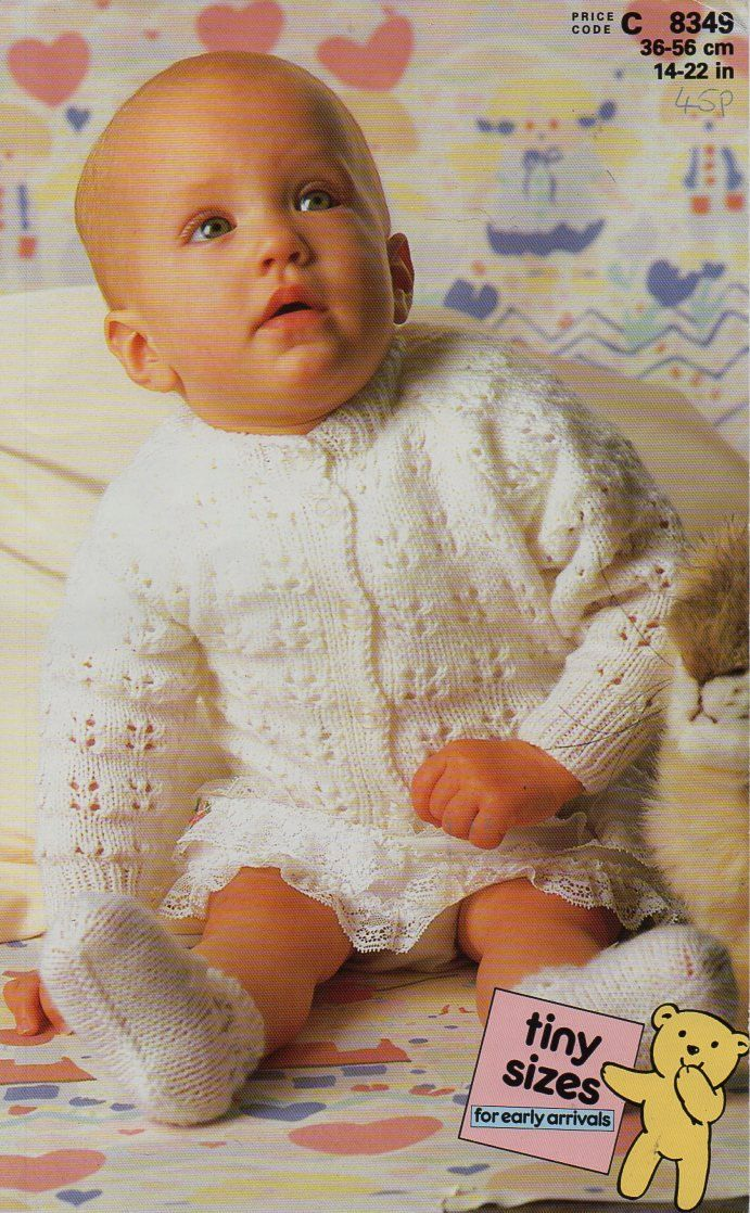 Baby Cardigan Bootees Knitting Pattern Pdf Download Lacy Cardigan