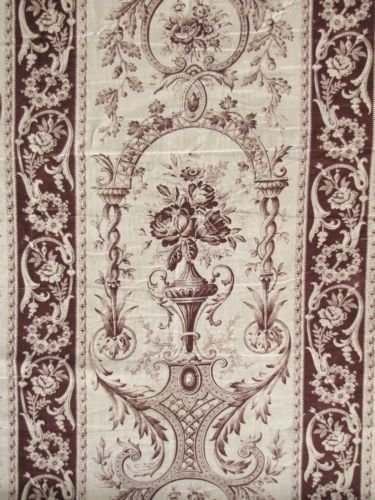 LENGTH-TWO-19th-century-French-toile-fabric-gorgeous-design