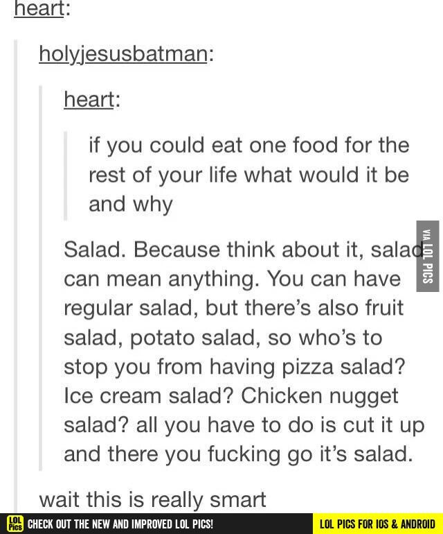 Salad really is a magical food