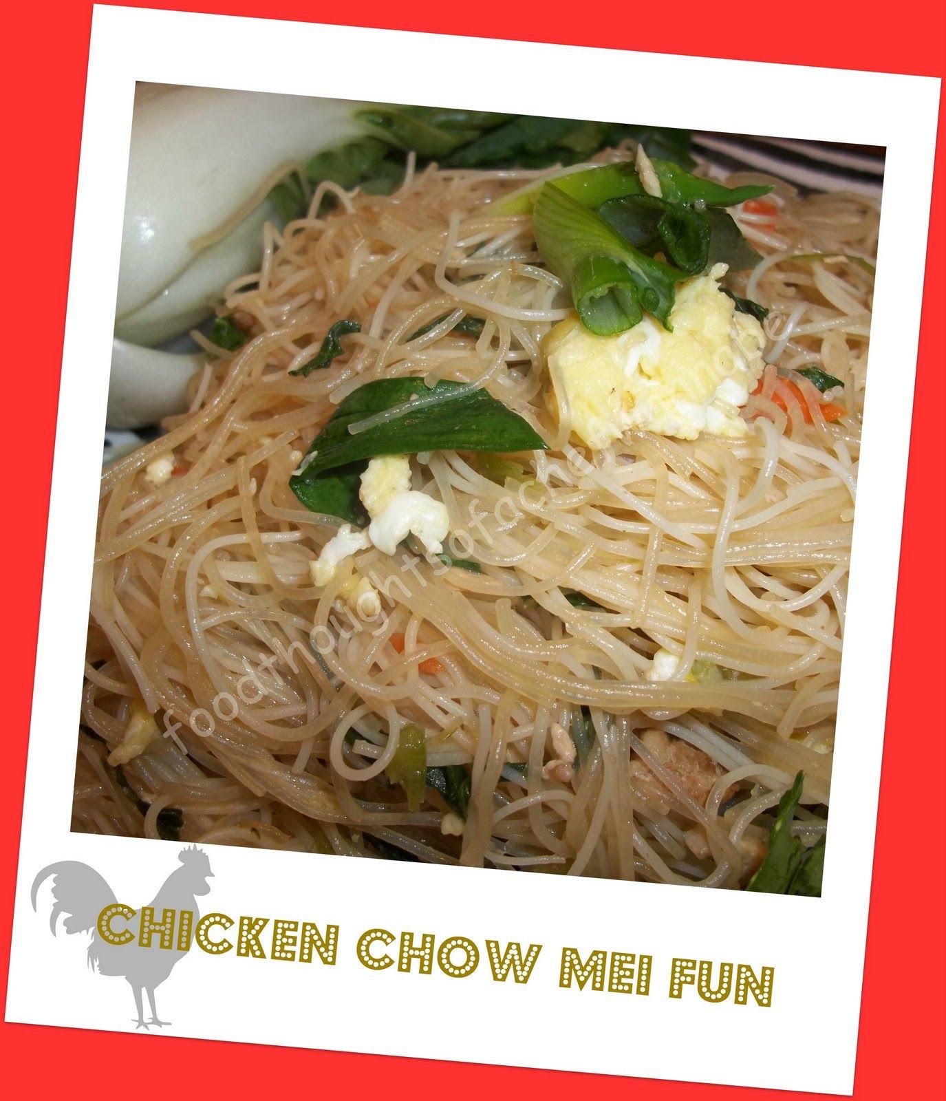 chinese takeout  chicken chow mei fun  chow mei fun