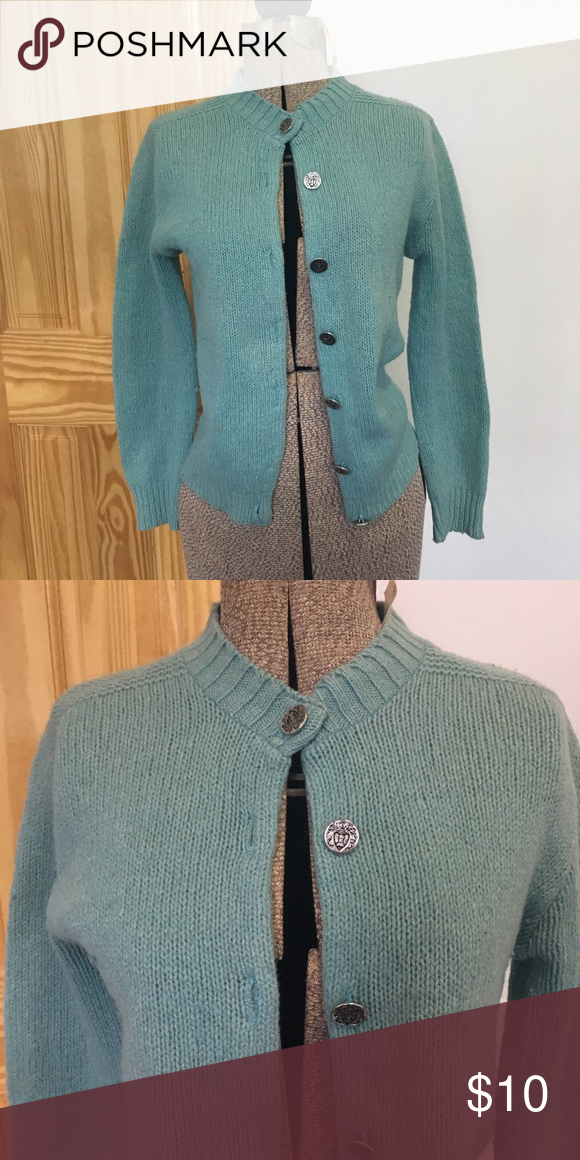 db49232c63 vintage turquoise knit wool cardigan super cute vintage sweater from the  50s or 60s made of knit wool! in a little worn condition but still looks  great!