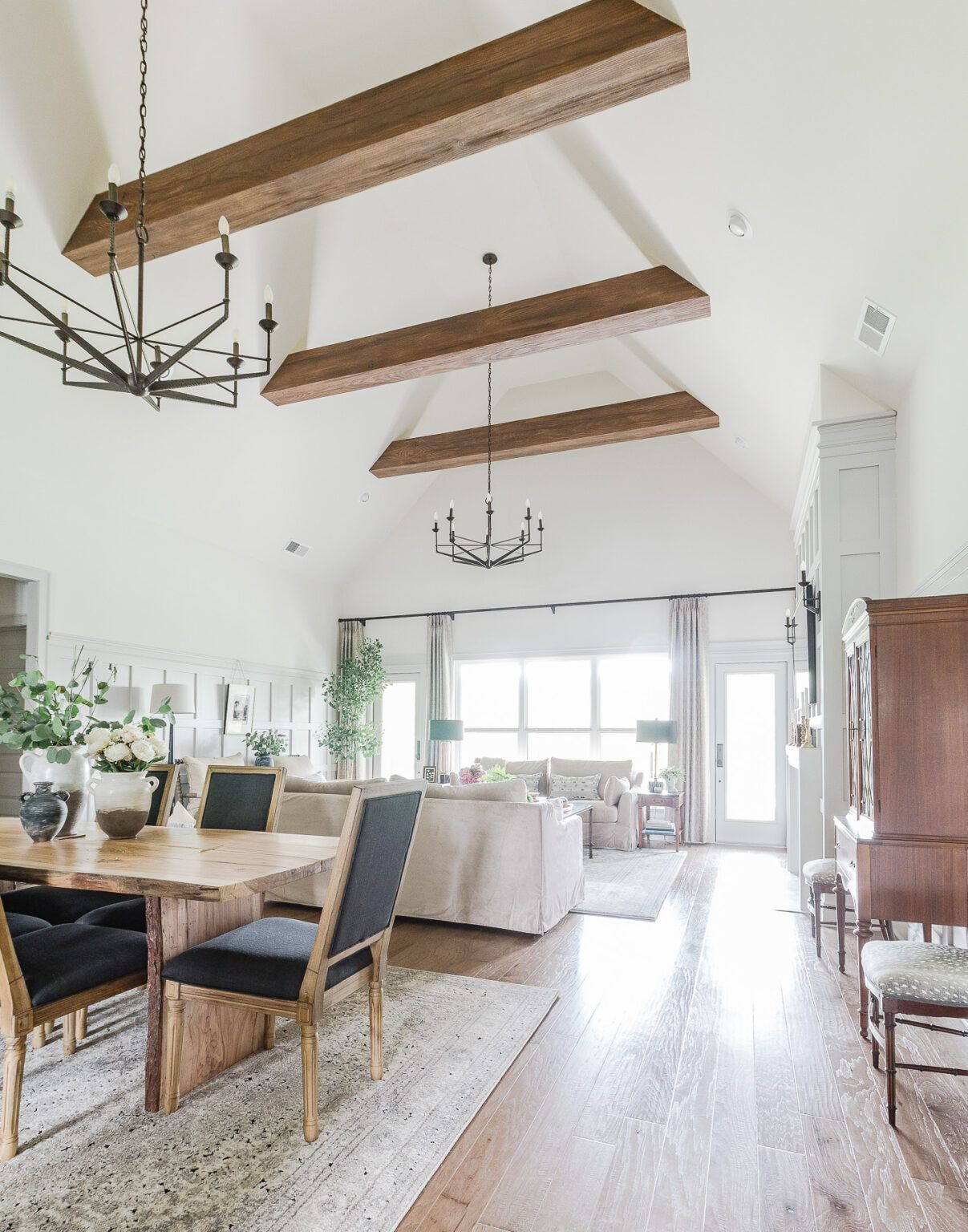 One Room Challenge Spring 2020 Open Living And Dining Room Reveal Deeplysouthernhome Living And Dining Room Open Dining Room Living Dining Room One room challenge installation