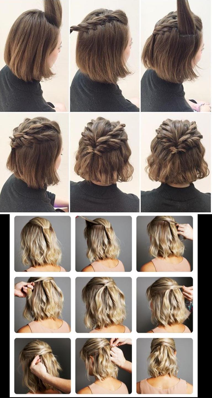 Penteados simples para fazer sozinha | Penteado simples para fazer sozinha, Penteado simples ...