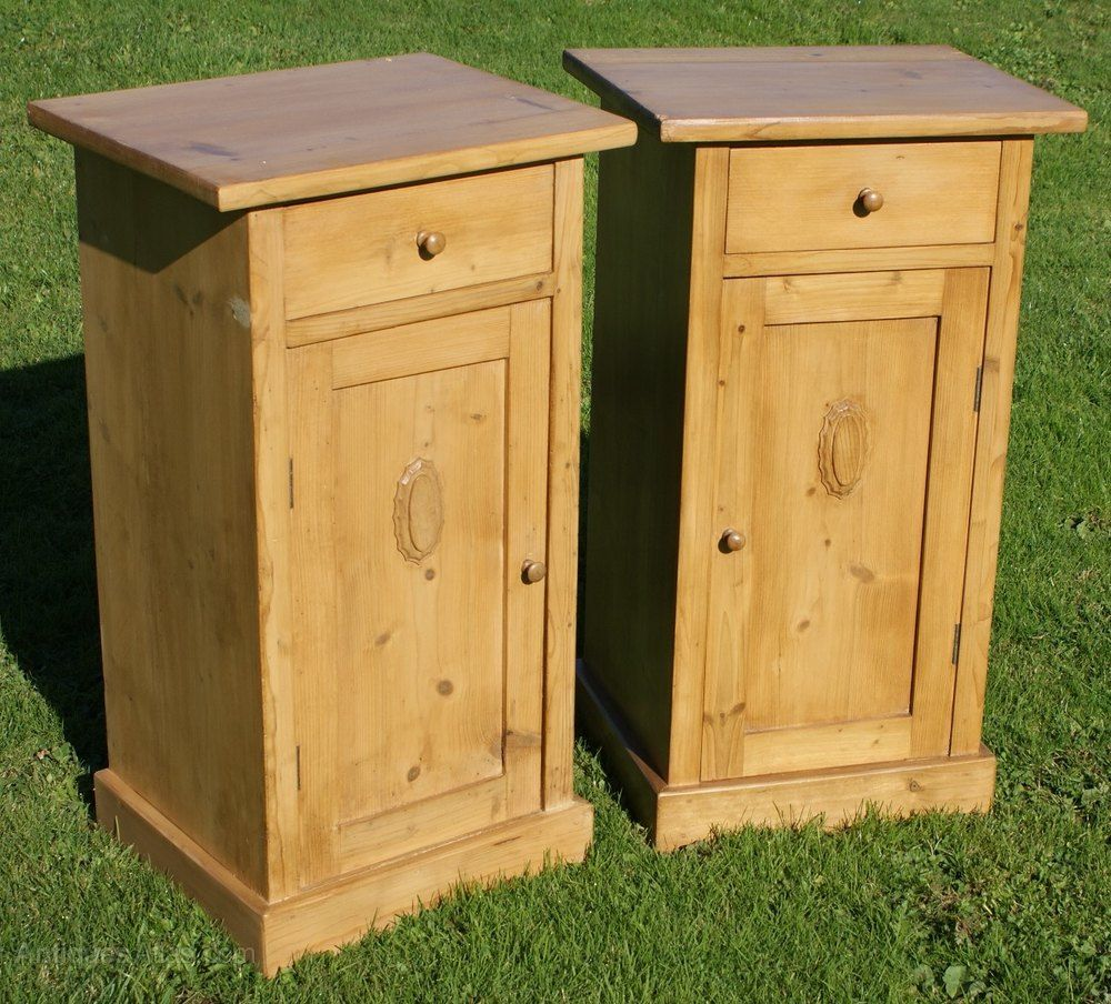A Matching Pair Of Dutch Pine Bedside Cabinets - Antiques Atlas - A Matching Pair Of Dutch Pine Bedside Cabinets In 2018 Antique