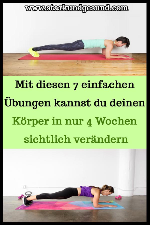 Photo of Mit diesen 7 einfachen Übungen können Sie Ihren Körper in nur 4 Wochen sehen.