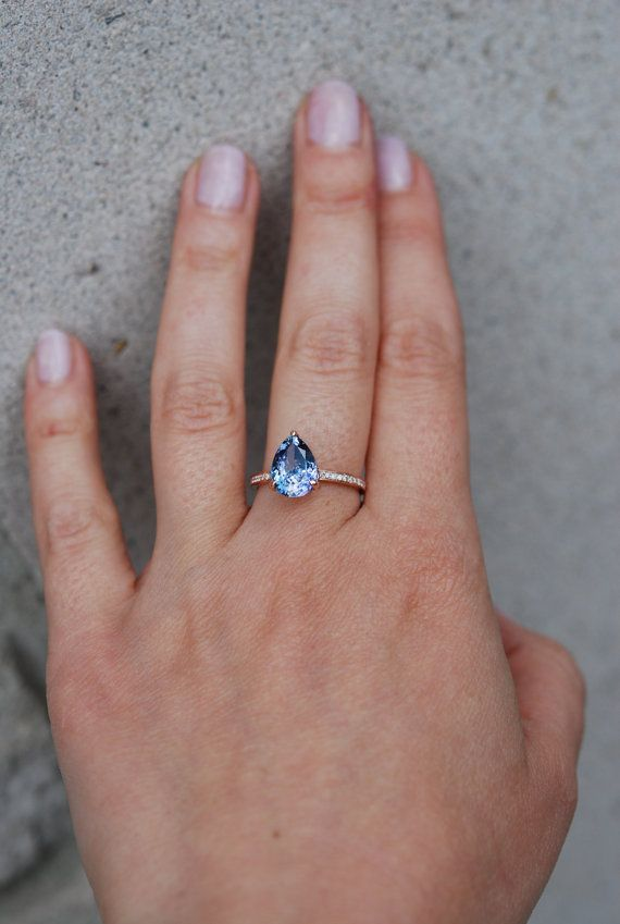 Tanzanite Ring. Rose Gold Engagement Ring 3.5ct Lavender ...