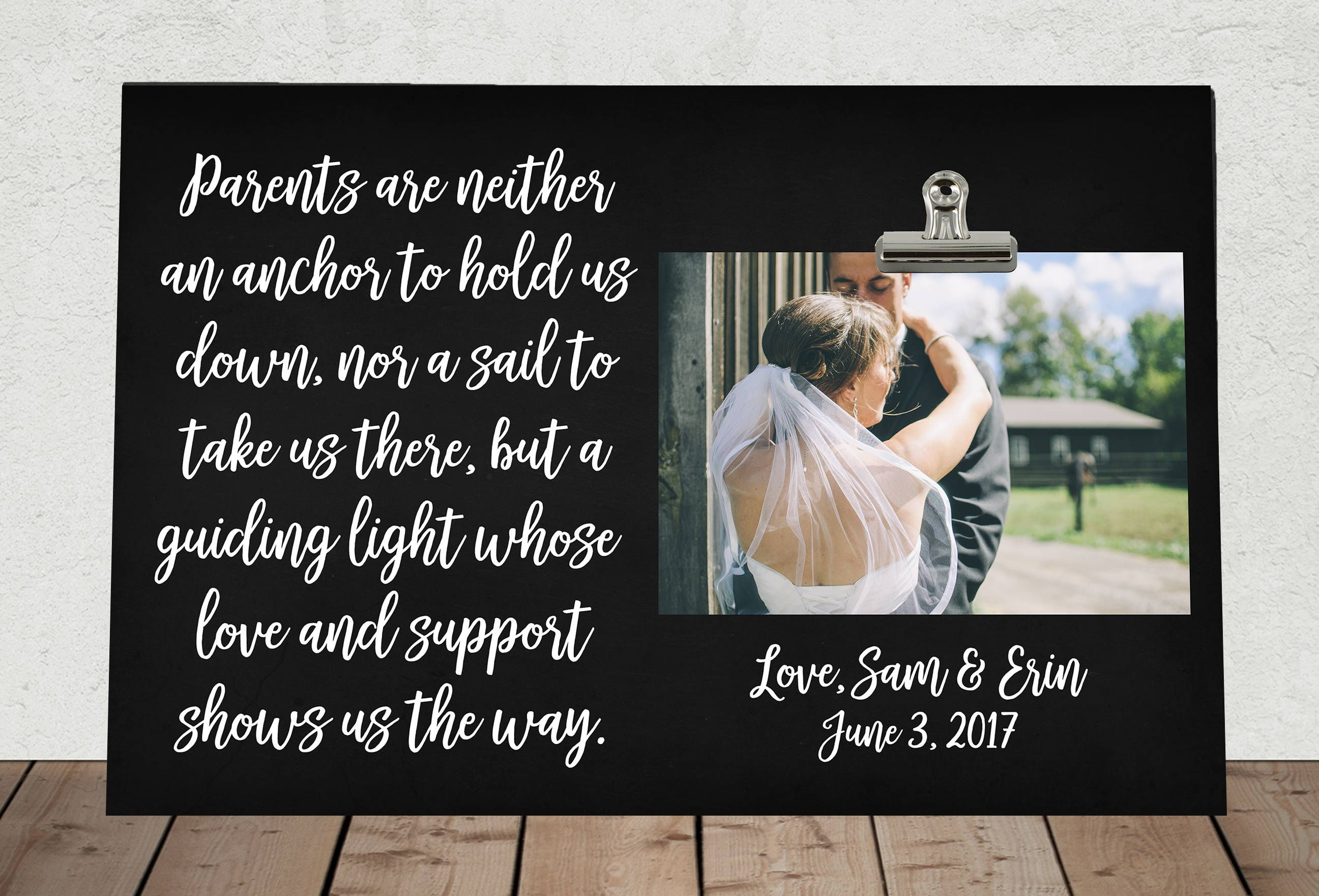 Wedding Gift For Parents Of The Bride Andor Groom Personalized