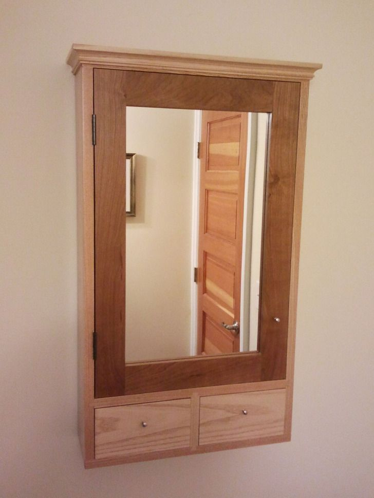 Stylish Wooden Medicine Cabinets Wood Recessed Cabinet Bathroom
