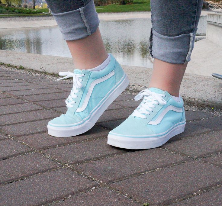 226beda1d308 Aqua Blue Women s Old Skool Vans - It s easy to add some color to your  outfits.