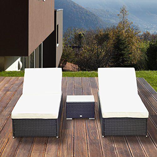 Aluminium rattan day bed sun canopy lounger recliner garden furniture patio new
