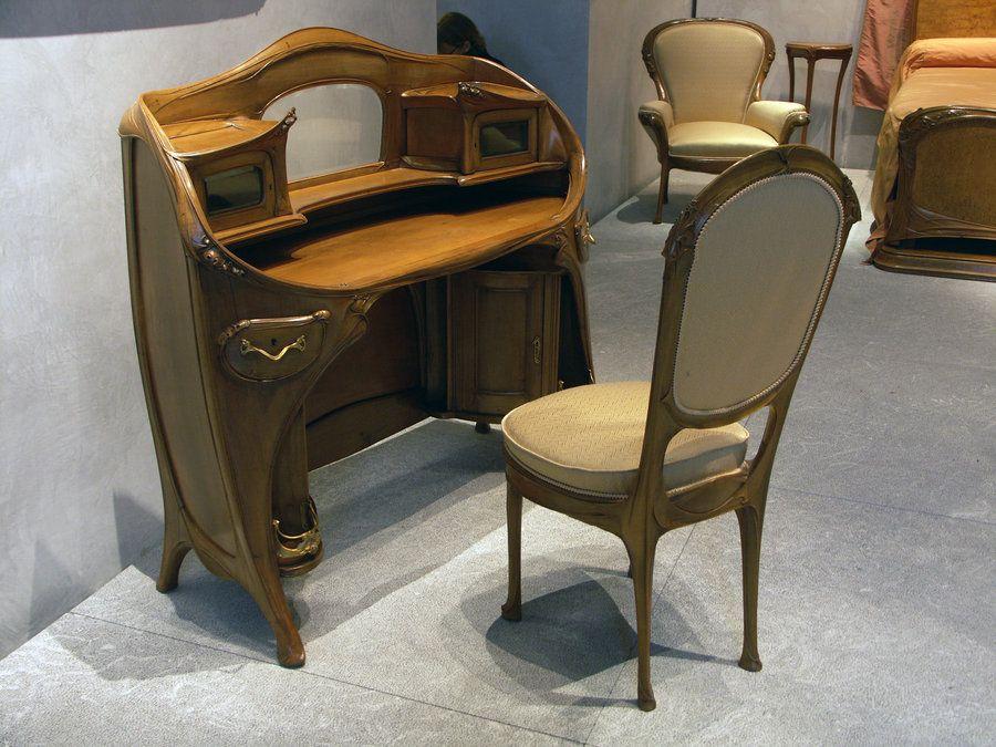 Art nouveau desk from the musée des beaux arts de lyon