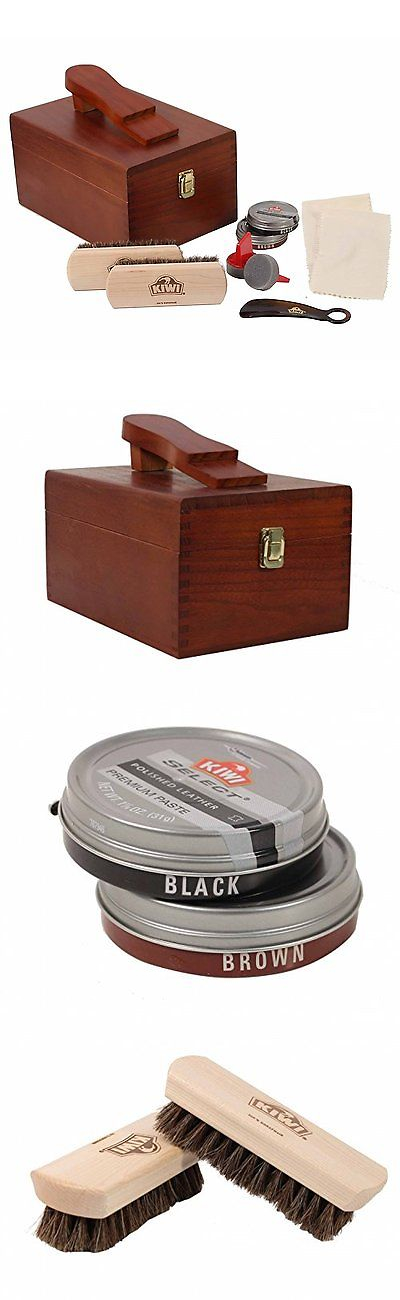 e350234d321 Shoe Care and Repair 178963  Kiwi Select Shoe Shine Care Kit Valet Ii  Wooden Box W 10 Pc Content -  BUY IT NOW ONLY   50.67 on eBay!