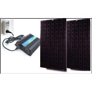 Readymade solar power kit 500watt grid tie inverter with 480watt 4 readymade solar power kit 500watt grid tie inverter with 480watt 4 x 120w polycrytalline solar panels prewired and configured do it yourself diy solutioingenieria Images