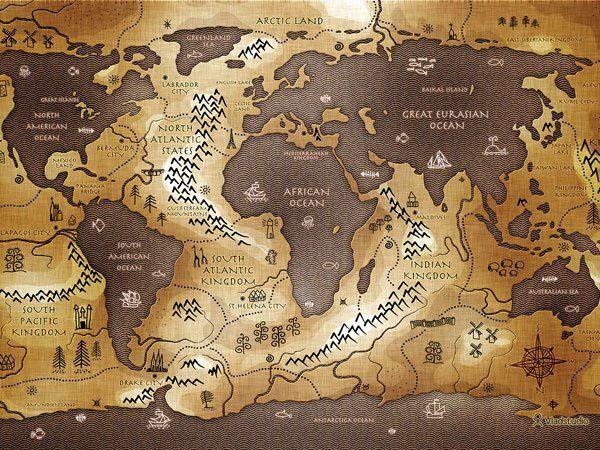 The World Map Inverted Credit Vlad Gerasimov Vladstudio