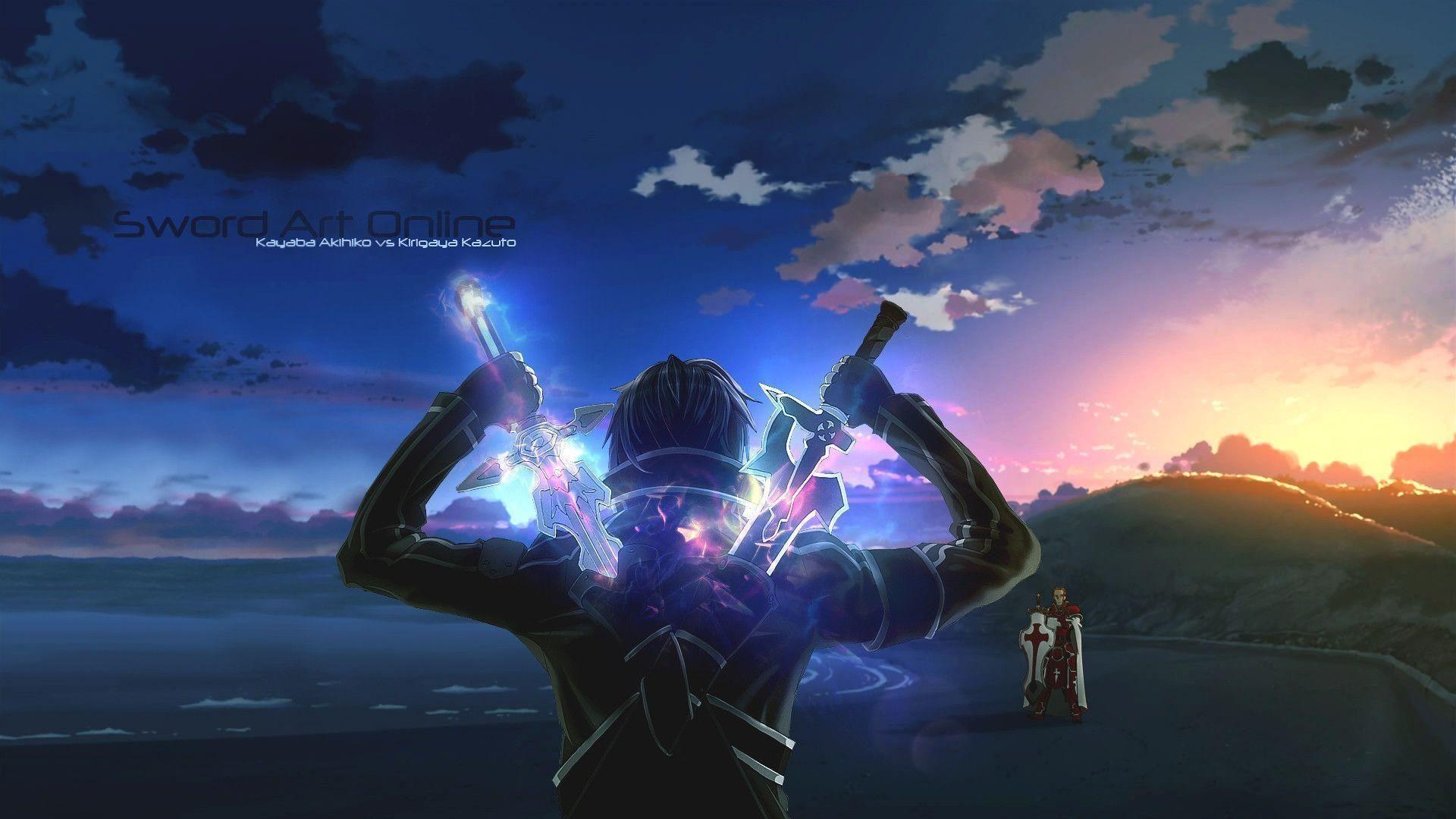 Epic Anime Images On Wallpaper 1080p Hd Sword Art Online Wallpaper Sword Art Online Kirito Sword Art