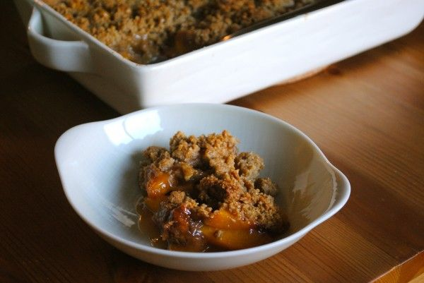 Peach & Olive Oil Crumble!