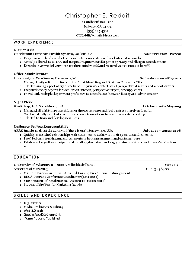 sample home health aide resumes