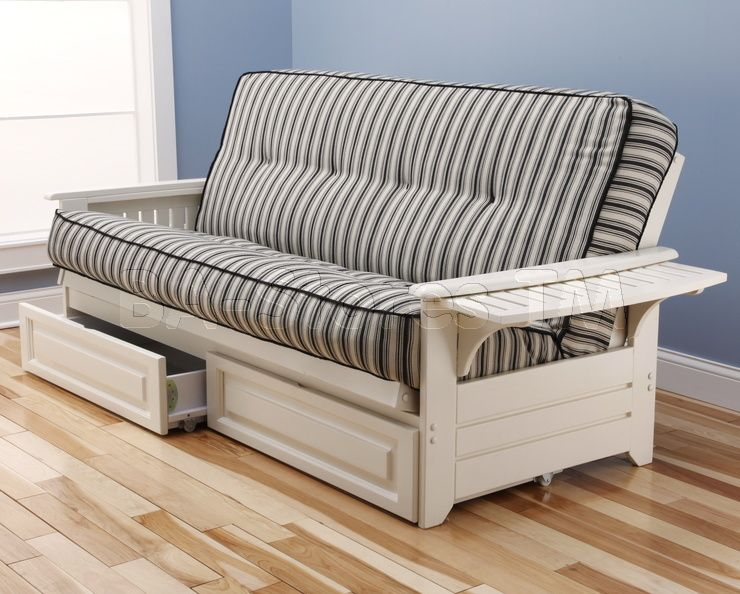 Phoenix Futon Frame Antique White
