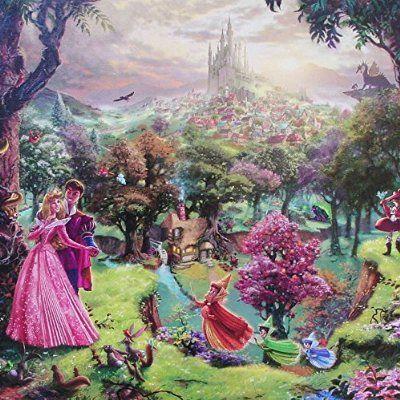 "Sleeping Beauty (Disney Dreams VIII) Thomas Kinkade 14""x14"" Gallery Wrapped Lithograph on Canvas artwork"