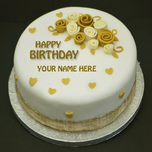 Write Name On Birthday Cake Happy Birthday Flower Cake Happy