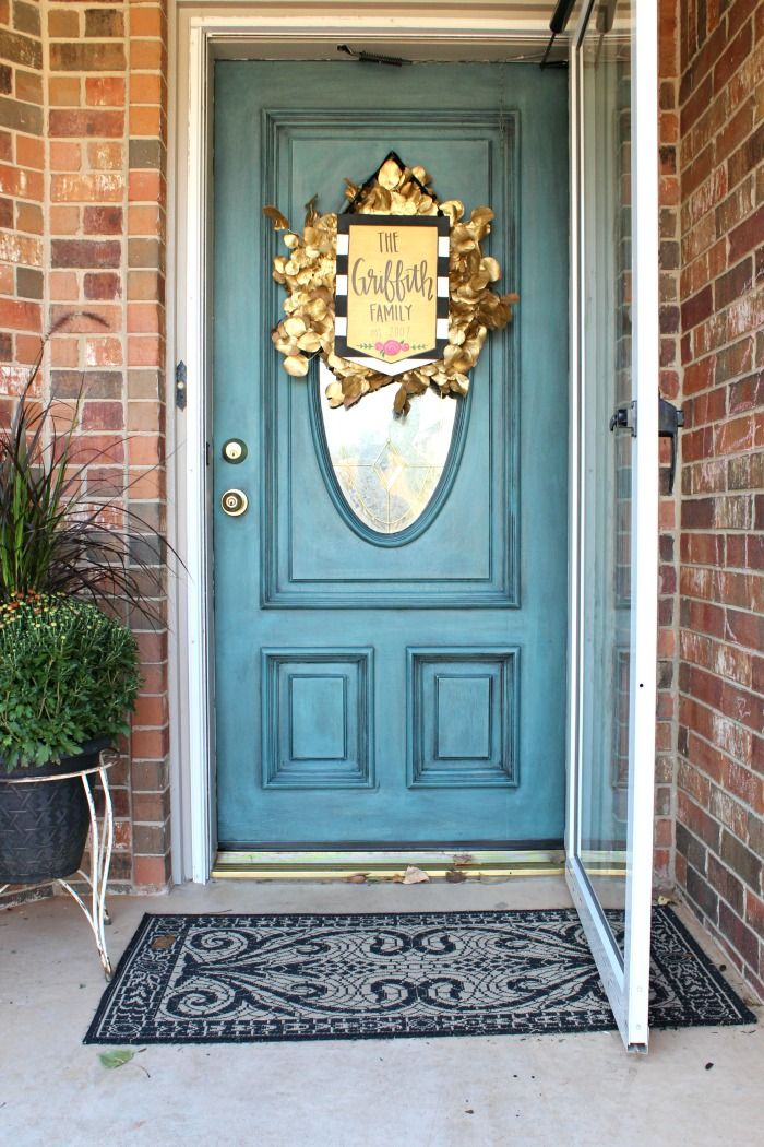 Painted Front Door Colors Refunk My Junk How To Paint A Front