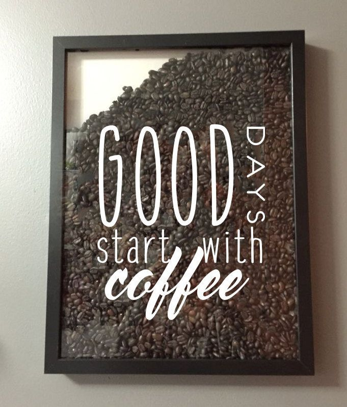 Good Days Start with Coffee Vinyl Sticker Decal / Sticker - Shadow boxes and more - Wall Quote #goodcoffee