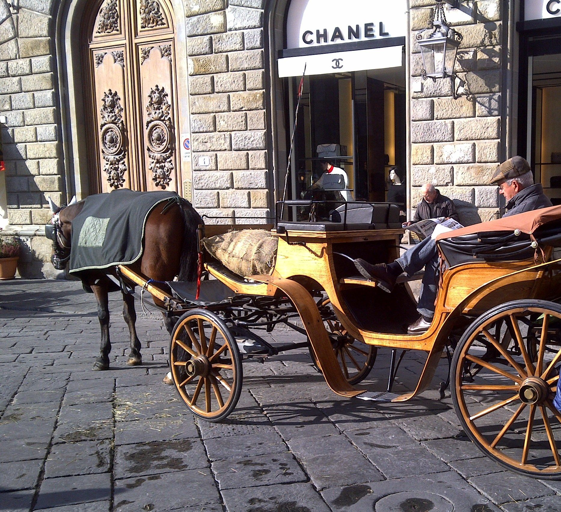 An horse ride or Chanel in Florence?