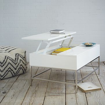 New Storage Coffee Table In White Lacquer From West Elm
