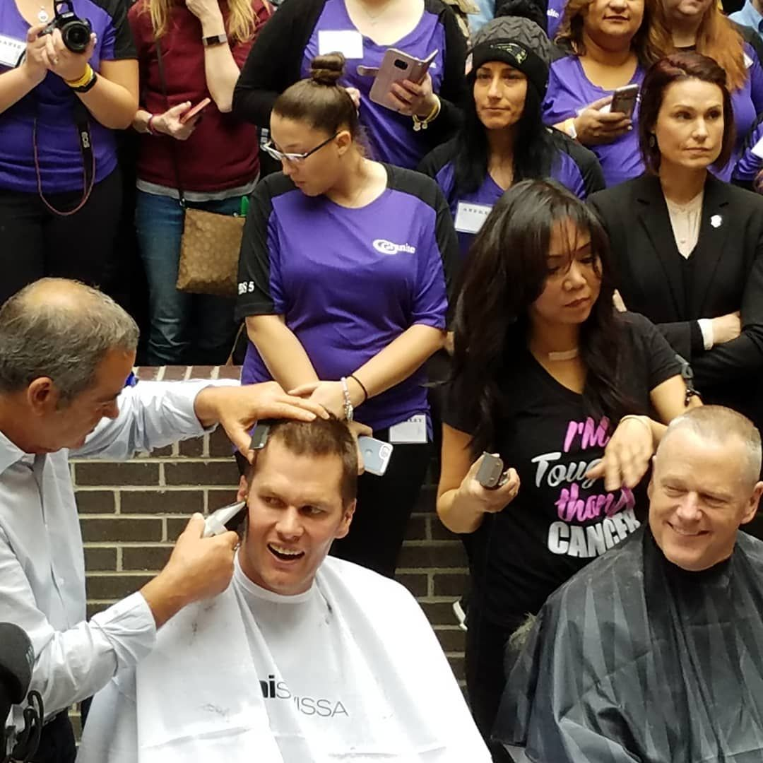 Tom Brady Gets Buzz Cut For Charity With Mass  Governor