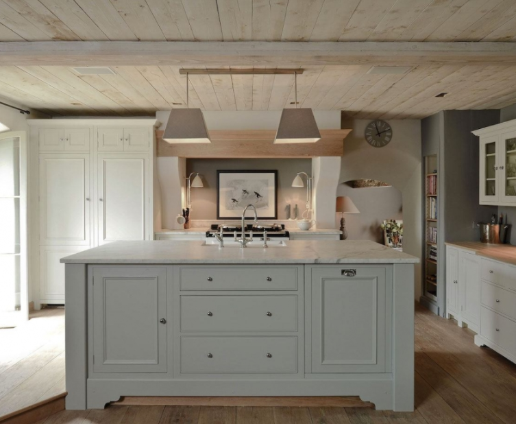 Farrow Ball French Grey Island By Neptune Kitchens Grey Kitchen Island Light Grey Kitchens Neptune Kitchen